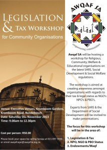 Awqaf SA Legislation & Tax Workshops